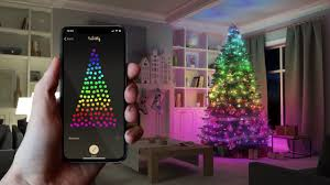 App Controlled Christmas Tree Lights Twinkly App Controlled Smart Christmas Lights Christmas Designers