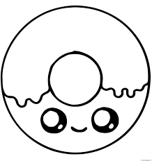See more ideas about cute coloring pages, coloring pages, disney coloring pages. Cute Donut With Sugar Kawaiioloring Printable 1591299598cute Decimal Place Value 692 736 Pages Print Out Pictures To For Free Jaimie Bleck