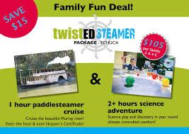 gift voucher twisted steamer family deal