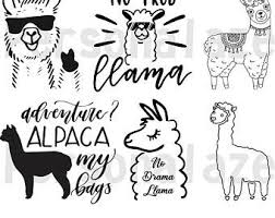 Download them for free and start now your diy projects with these free vectors. Cute Llama Etsy
