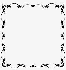 free clipart of a fancy fl frame black and white free black and white frames
