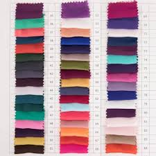 Piece Dyed 50d Satin Chiffon 84 Colors