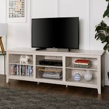 tv stand with storage. Exellent With Walker Edison Furniture Company 70 In Wood Media TV Stand Storage Console   White Wash To Tv With The Home Depot