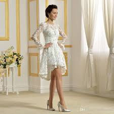 discount 2017 delicate above knee length wedding dresses white