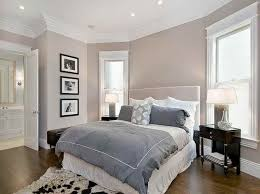 cozy bedroom ideas. Light Wall Paint Colour Combination With Soft Grey Comforter For Cozy Bedroom Ideas Black Side Table
