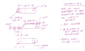 an exle of this is when subject s1 writes down some manufacturing notes next to the drawing of the spring contact in the battery contact problem as shown