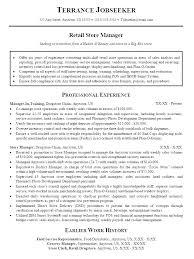 Retail Store Manager Resume Sample Retail Store Manager Resume Unique Resume Sample For Store Manager