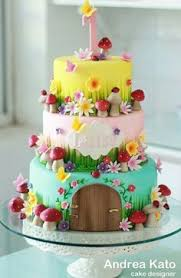 Small Picture Loras cake Flipping Cake and Fairy garden cake