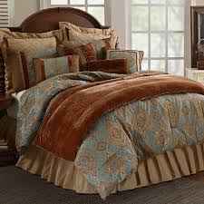 michael amini seville luxury comforter set king and queen size