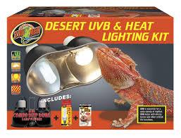 Uvb And Basking Light Desert Uvb Heat Lighting Kit Zoo Med Laboratories Inc