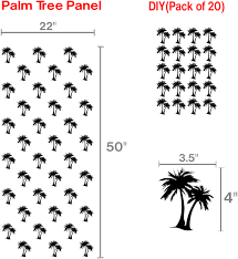 Palm Tree Decor For Bedroom Palm Tree Decals Pattern Wall Art Palm Tree Vinyl Stickers