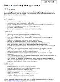 Marketing Job Description Sample Marketing Manager Assistant Cover