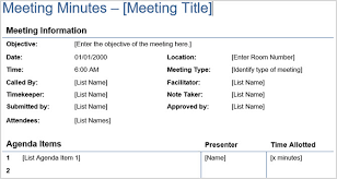Sample Meeting Notes The 12 Best Meeting Minutes Templates For Professionals