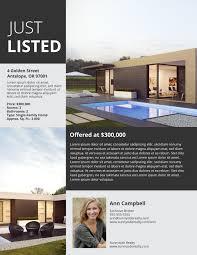 Upmarket Listing Flyer Template Real Estate Marketing Ideas