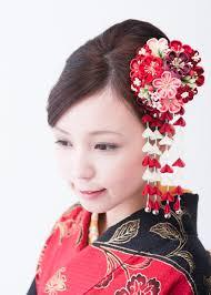84選成人式の参考に着物に合わせた髪飾りコーディネート 女子力