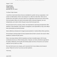 Sample Recommendation Letter For Job Job Recommendation Letter Sample From Employer Employee