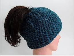 Bun Hat Pattern Custom EASY How To Crochet A Chunky Messy Bun Hat Head Band Full Hat