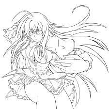 Small Picture High School Dxd Line Art Sketch Coloring Page