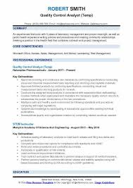Quality Assurance Analyst Resume Simple Quality Control Resume Format Radiovkmtk