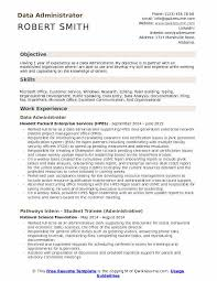 Data Entry Officer Sample Resume Enchanting Data Administrator Resume Samples QwikResume