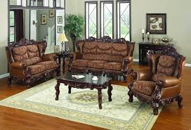 furniture sofa set designs. Furniture. Brown Fabric Sofa Set With Wooden Carving Bases Added By Dark Furniture Designs