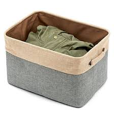 office storage baskets. Home Essentials Fabric Collapsible Convenient Storage Bin Basket With Rope Handle - For Office, Bedroom, Closet, Toys, Laundry Office Baskets O