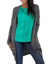 Gray Open Front Cardigan Merona Clothing Women