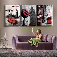 Modern Wall Paintings Living Room 3 Panel Wall Art Paintings Famous London Building Wall Pictures