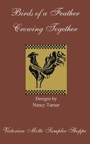 Birds Of A Feather Crowing Together Rooster Cross Stitch