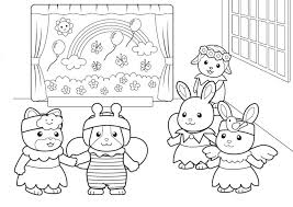 Small Picture Calico Critters Coloring Pages FunyColoring