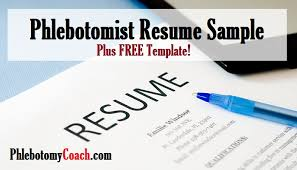 phlebotomist resume sample plus free template phlebotomy coach phlebotomy resume