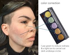 this image shows how i color correct my face color correction is a tool that