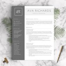 Contemporary Resume Templates Inspiration Modern Resume Template For Word And Pages 48 48 Pages Cover Etsy