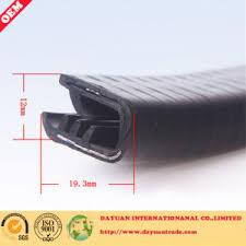plastic edge trim car door rubber seal strip