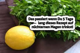 Zitrone und petersilie zum abnehmen