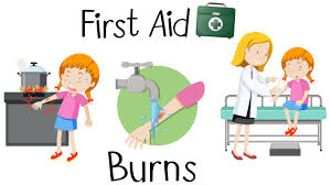 A girl with burn arm first aid - Download Free Vectors, Clipart Graphics & Vector Art