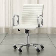 crate and barrel office furniture. Ripple Ivory Leather Office Chair With Chrome Base + Reviews | Crate And Barrel Furniture