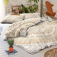 indian design pure cotton duvet cover with 2 pillow cover bohemian hippie design comforter cover throw