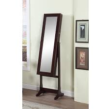 mirror armoire. artiva usa 63-inch walnut floor-standing mirror and jewelry armoire with led light