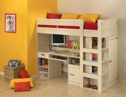 Amazing Twin Loft Bed with Desk and Storage — Modern Storage Twin