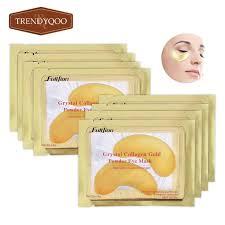 5Packs 24k <b>Gold Crystal</b> Collagen Eye Mask Moisturizing Patch ...