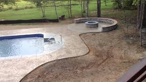 cool x vinyl liner with arizona flagstone stamped concrete with colored  boarder u coping youtube with flagstone coping around pool