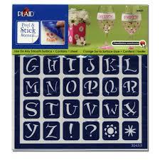 Stencil Letters Plaid Adhesive Stencil Alphabet Walmart Com