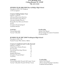 Music Resume For College Application Example High School ...