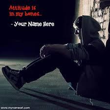 write name sad boy atude display