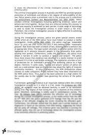 criminal investigation essay year hsc legal studies thinkswap criminal investigation essay