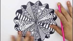 تعليم رسم مانديلا رسم سهل بوصله خطوه بخطوه رسم سريع how to draw mandala  compass verry esy - YouTube