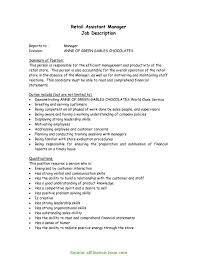 Store Executive Resume Sample Typical Store Executive Job Responsibilities Resume Sample Sample 7