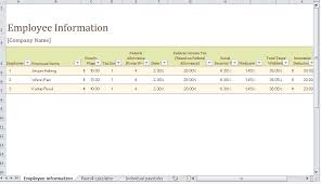 Payroll Template Excel Payroll Template Free Payroll Templates