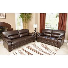 Top Grain Leather Living Room Set Abbyson Living Aroma 2 Pc Top Grain Italian Leather Living Room